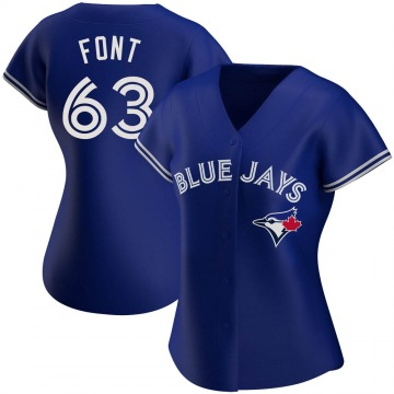 Women's Wilmer Font Toronto Blue Jays Authentic Royal Alternate Jersey