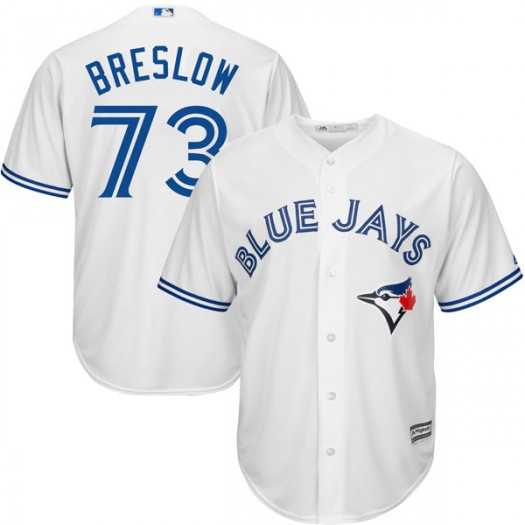 Youth Majestic Craig Breslow Toronto Blue Jays Player Authentic White Cool Base Home Jersey