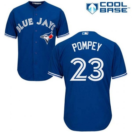 Men's Majestic Dalton Pompey Toronto Blue Jays Player Replica Blue Alternate Jersey